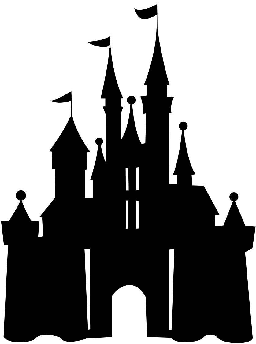 Disneyland Castle Silhouette Free Clipart Images
