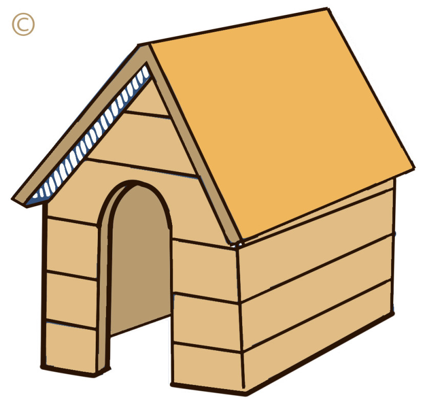 Dog House Clipart Black And White Housedog Free Clipart Free