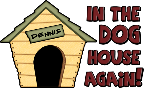 In The Dog House Clipart