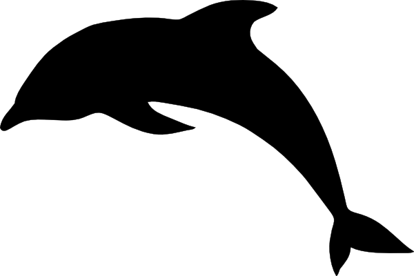 Dolphin Clip Art Black And White Free Free