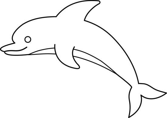 Dolphin Clip Art Outline Free Clipart Images