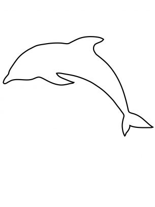 Dolphin Printables Dolphin Template Cut Out Print Outs