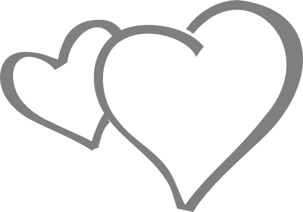 Double Heart Clipart Black And White Free