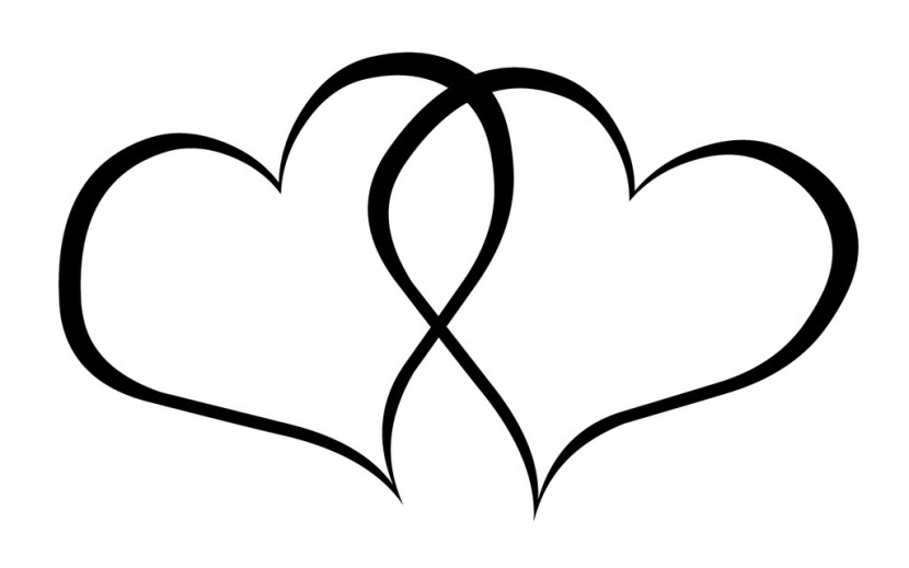 Double Hearts Clip Art Wedding