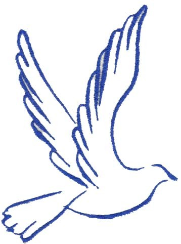 Dove Outline Clipart Free Clipart