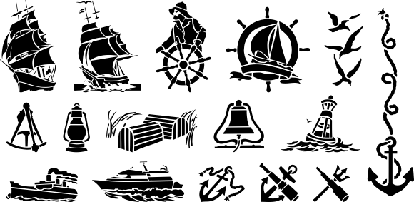 Download Free Vector Clipart Nautical Collection