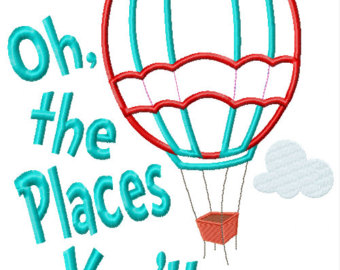 Dr Seuss Oh The Places Youll Go Backdrop Clipart Free Clip Art