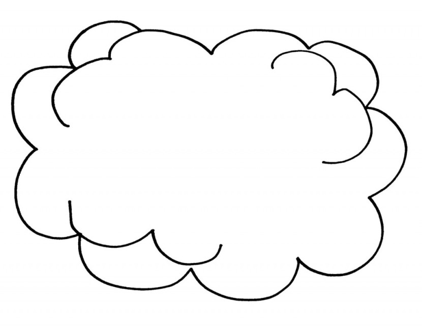 cloud shapes coloring pages - photo#3