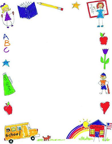 Education Theme Borders On Pinterest School Themes Clip Art And