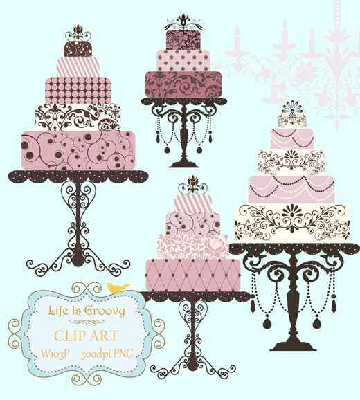 Elegant Lilac Pink Plum Wedding Cakes 4 Largelifeisgroovy