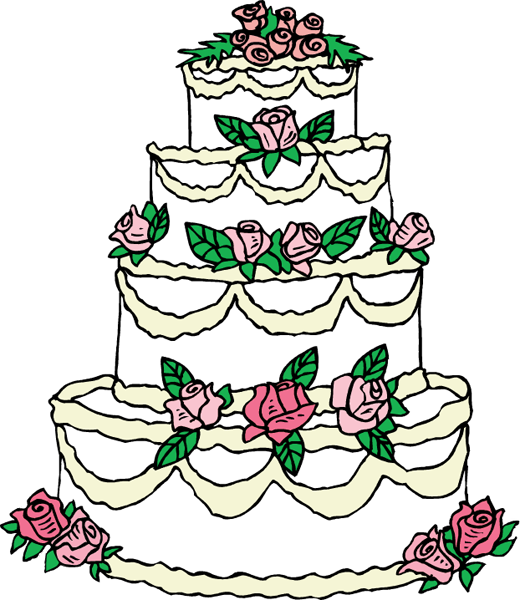 cartoon picture of a wedding cake best wedding cake clip 17130 clipartion 12418