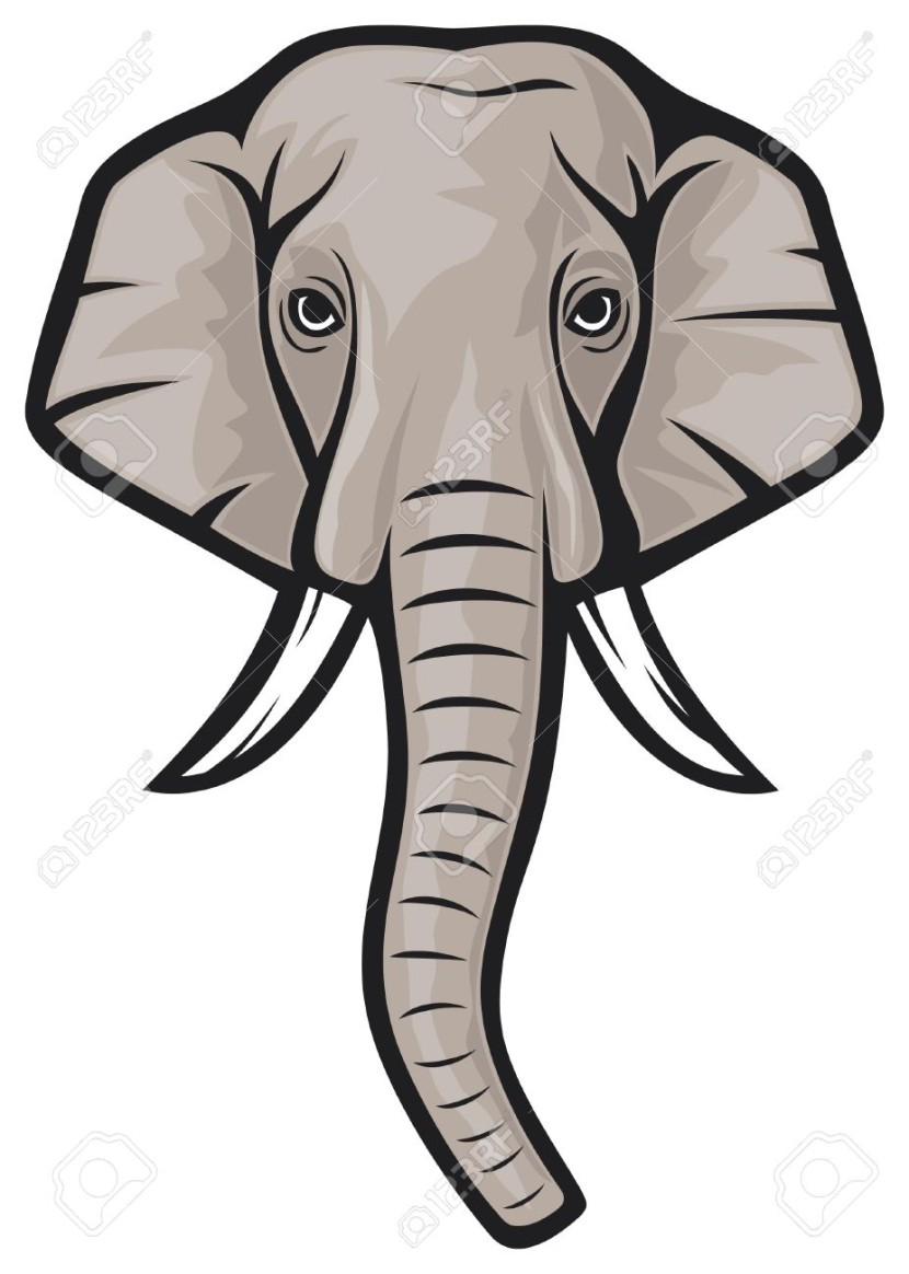 Elephant Head Indian Elephant Royalty Free Cliparts Vectors And