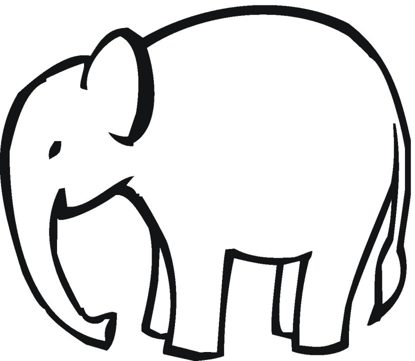 Elephant Head Outline Free Clipart Images