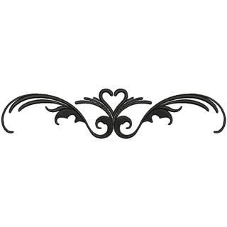 Embroidery Mill Heart Scroll Stock Embroidery Designs For