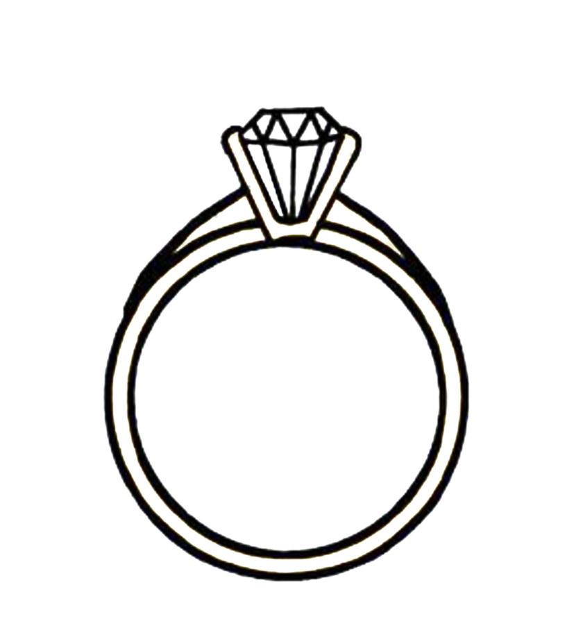Engagement Ring Clipart Black And White Free