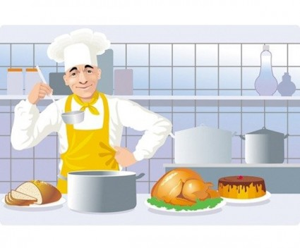 European And American Kitchen Cooking Clip Art Free Vector In