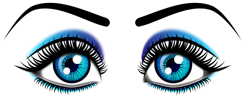 Eyes With Eye Lashes Clipart