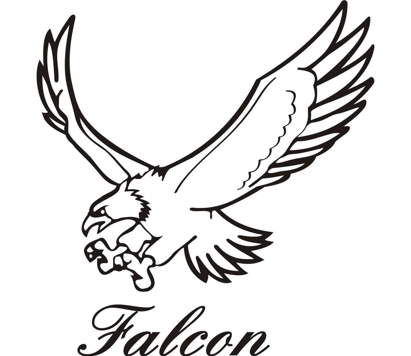 flying falcon clip art - HD 1428×1238