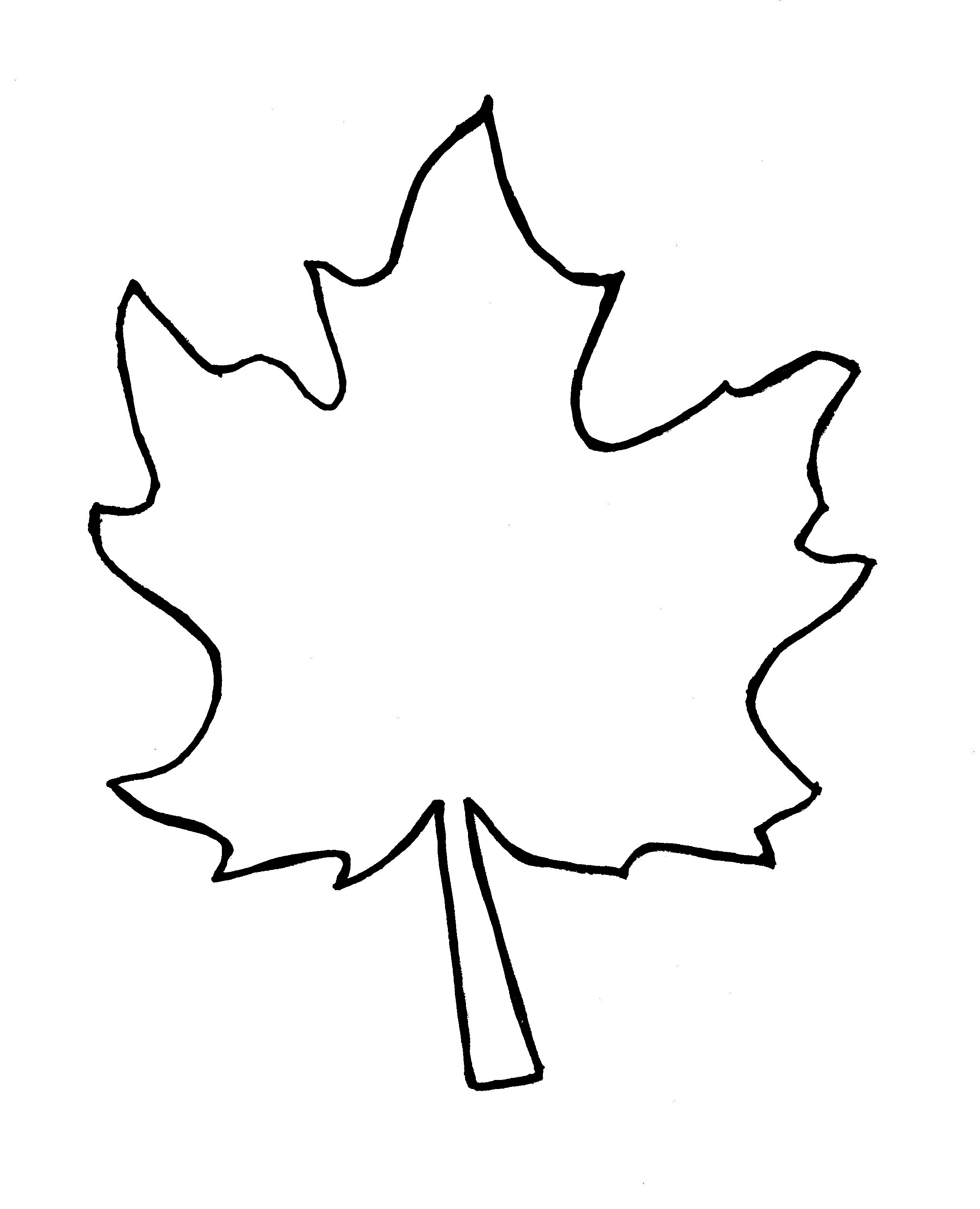 Fall Leaf Clipart Outline Free Images