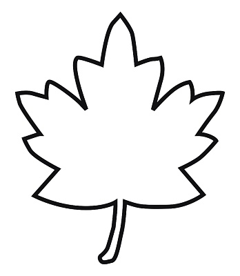 Fall Leaf Outline Clipart Free Clip Art Images