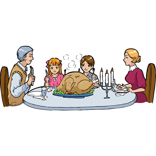 Family Dinner Table Free Clipart Free Clip Art Images