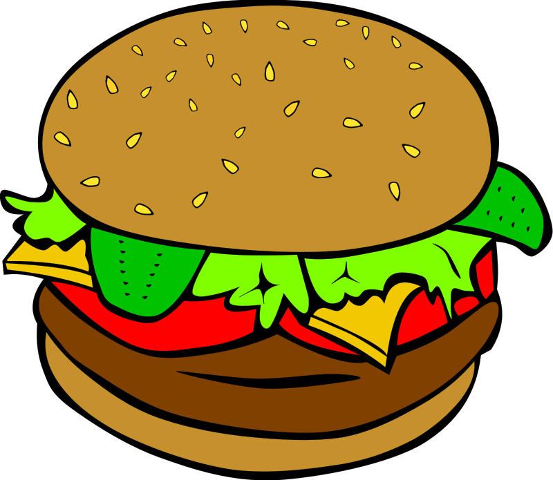 Fast Food Clipart Pizza Burgers Hot Dogs Amp Fries