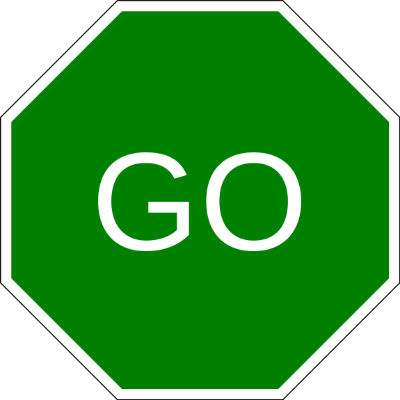 Best Green Go Sign #19859 - Clipartion.com