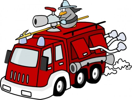 Fire Engine Clip Art Free Vector In Open Office Drawing