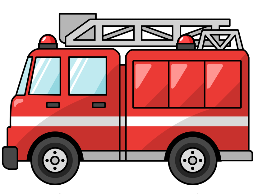Fire Truck Clipart Black And White Free Clipart