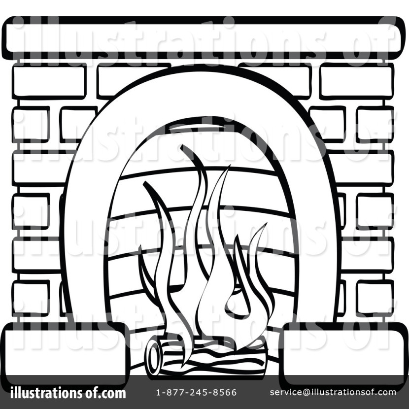 Fireplace Clipart Illustrationandy Nortnik