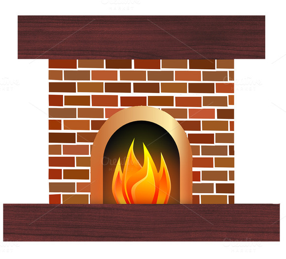 Fireplace Fire Clipart Free Designtube Creative Design Content