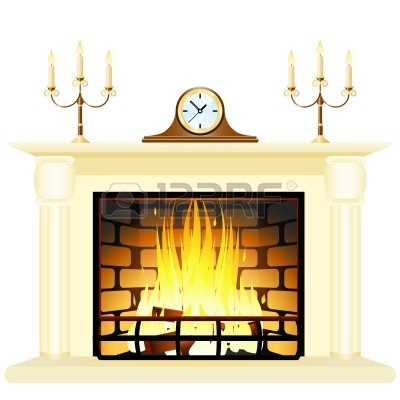 Fireplace Stock Vector Illustration And Royalty Free Fireplace