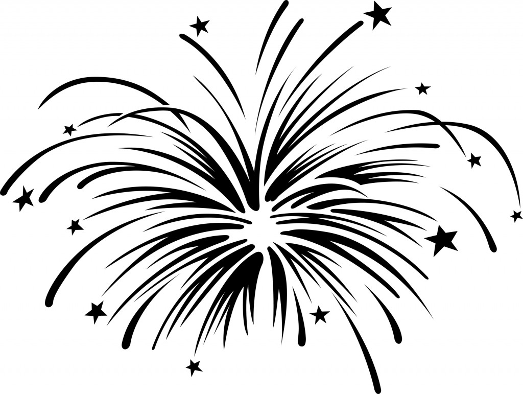 Fireworks Clipart Black And White Free Clipart