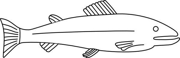 Fish Outline Clip Art Free Vector In Open Office Drawing