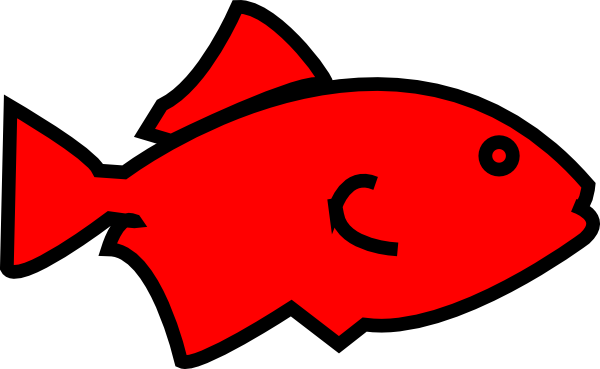 Fish Outline Red Clipart Free Clip Art Images