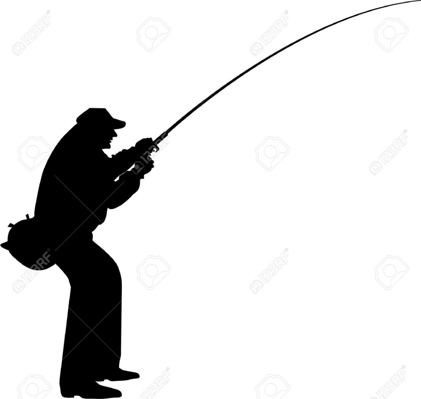 Fisherman Silhouette Royalty Free Cliparts Vectors And Stock