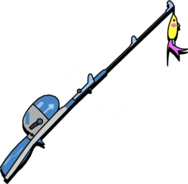 Fishing Pole With Fish Clipart Free Clipart Images