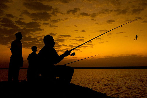 Fishing Silhouette Flickr Photo Sharing