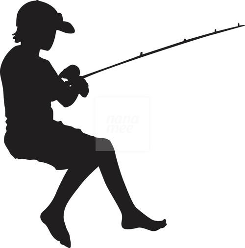 Fishing Silhouette Free Clipart Images