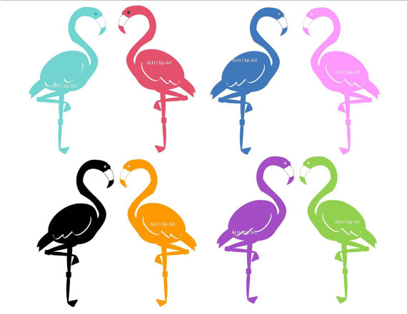 Flamingo Silhouette Clip Art Digital Clipartaprilhovjacky
