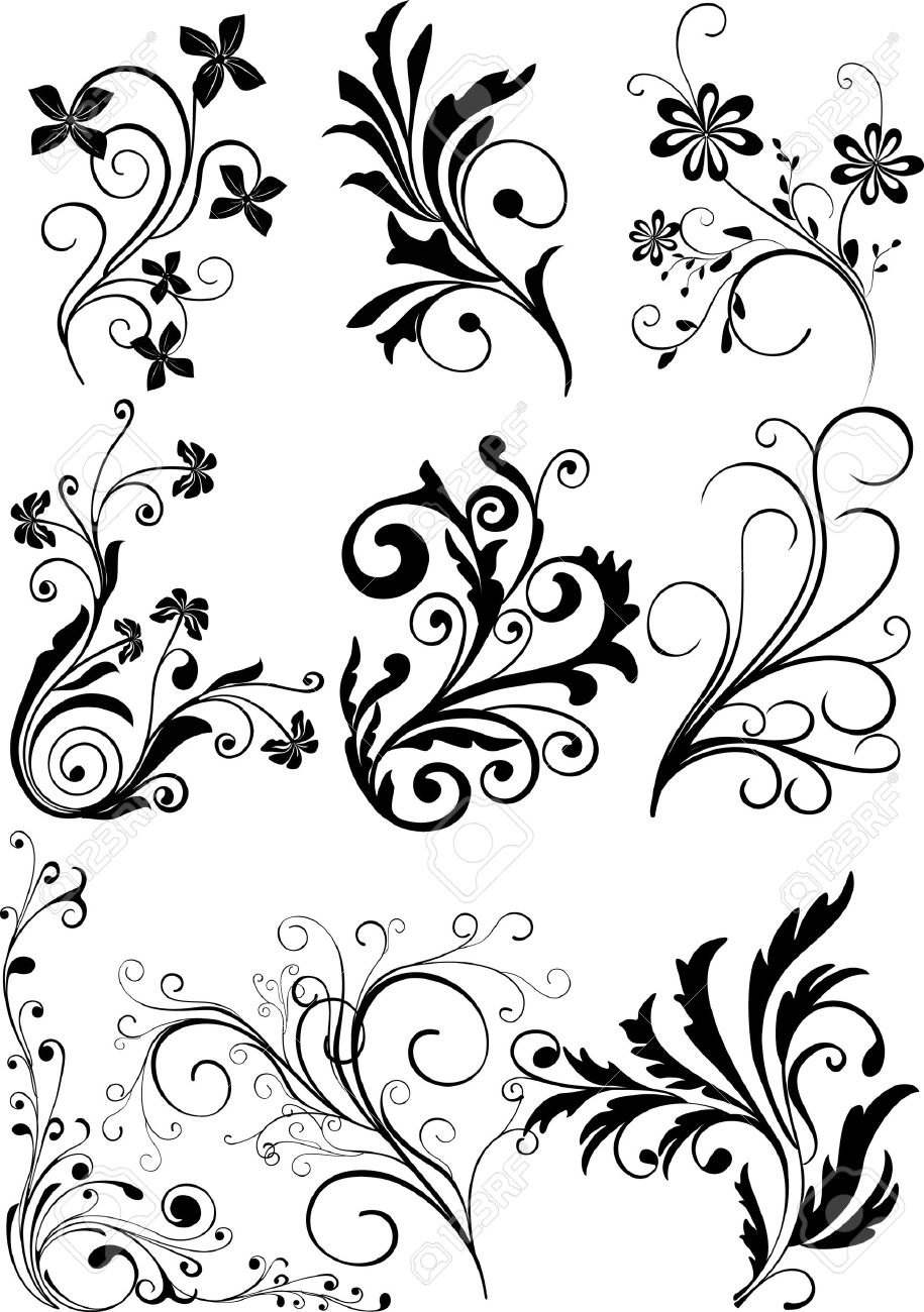 Floral Design Elements Royalty Free Cliparts Vectors And Stock