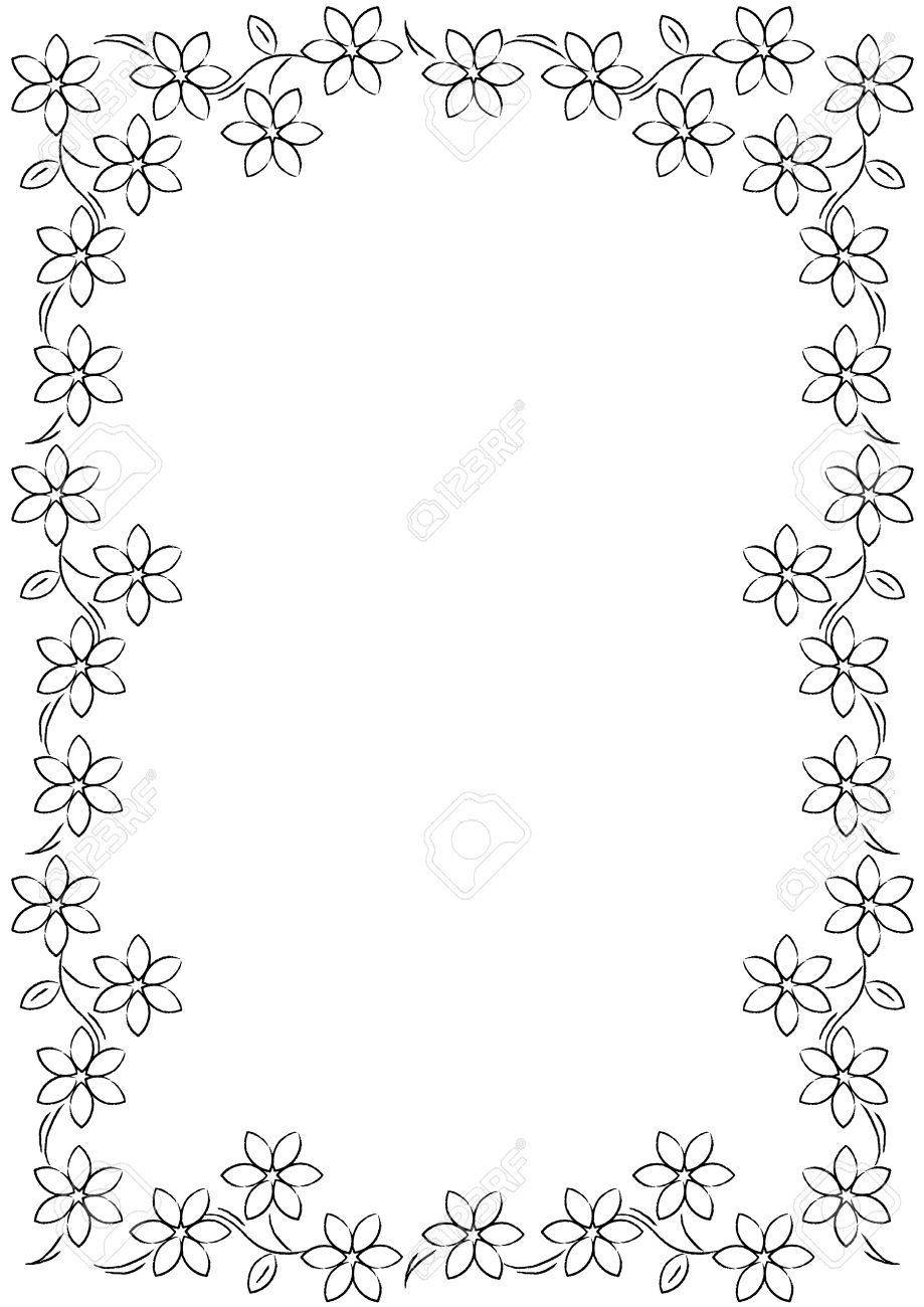Best Black And White Flower Border #15721 - Clipartion.com