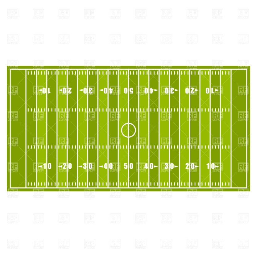 Football Clipart Border American Football Field Image School Clipart