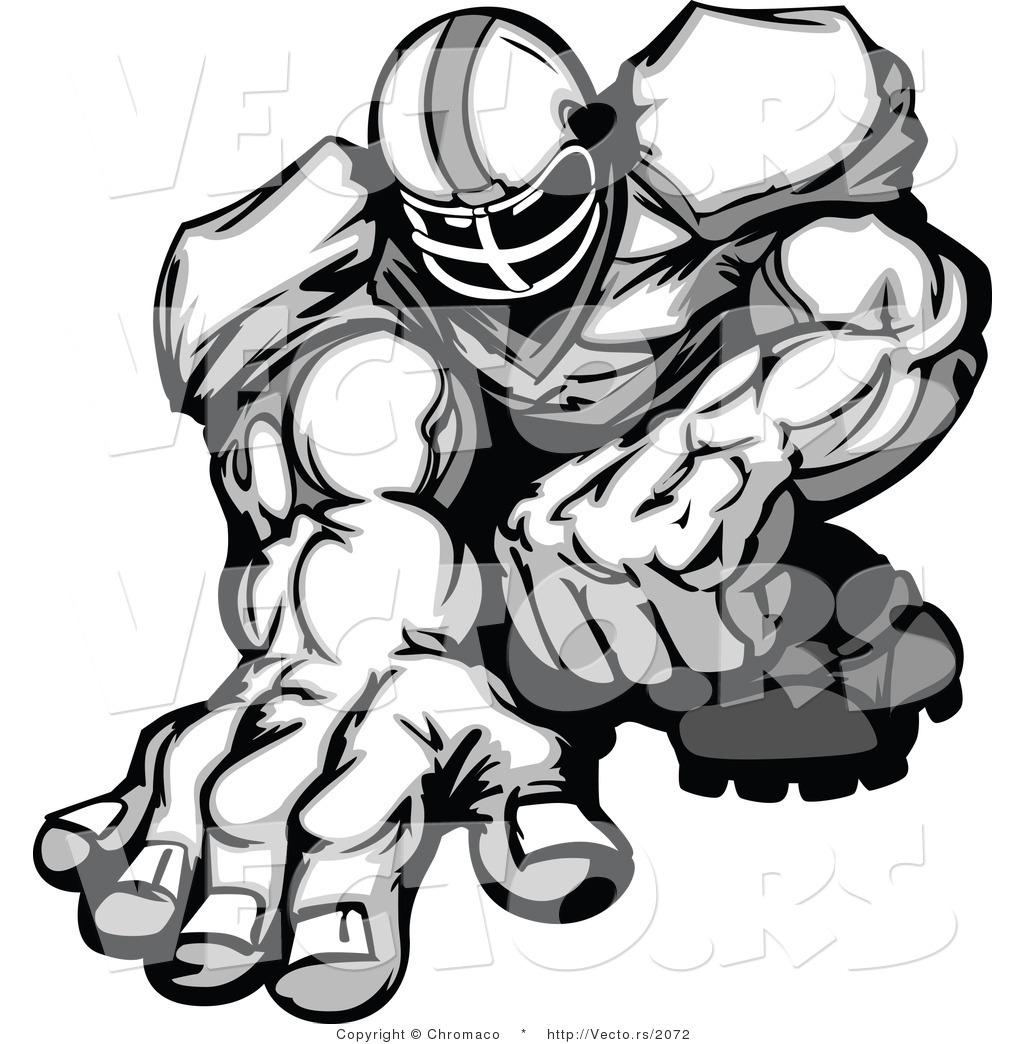 Best Football Player Clipart Black And White #21022