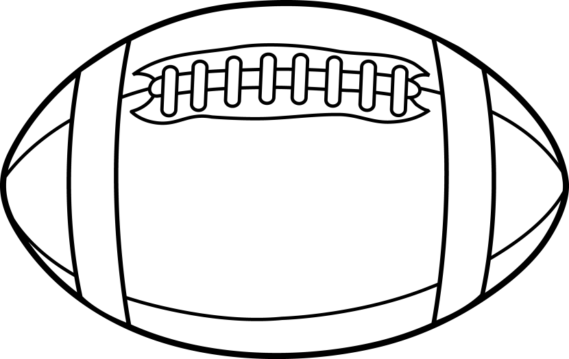 Football Field Clipart Black And White Free