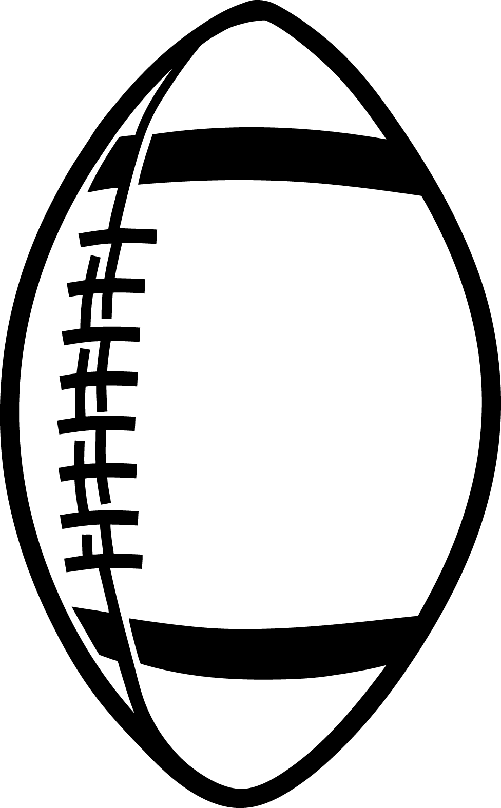 Football simple. Best laces clip art
