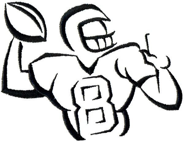 Football Outline Player Clipart Free Clip Art Images