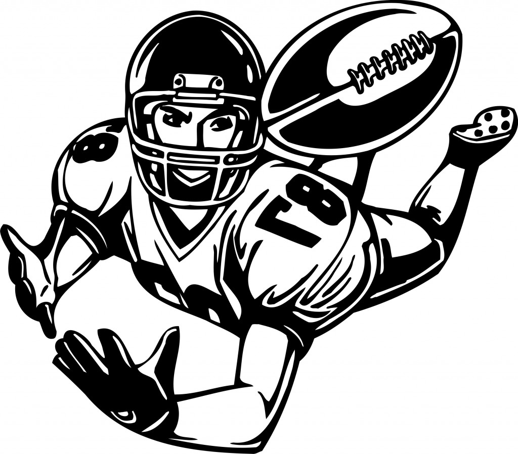 Best Football Player Clipart Black And White #21007 ...