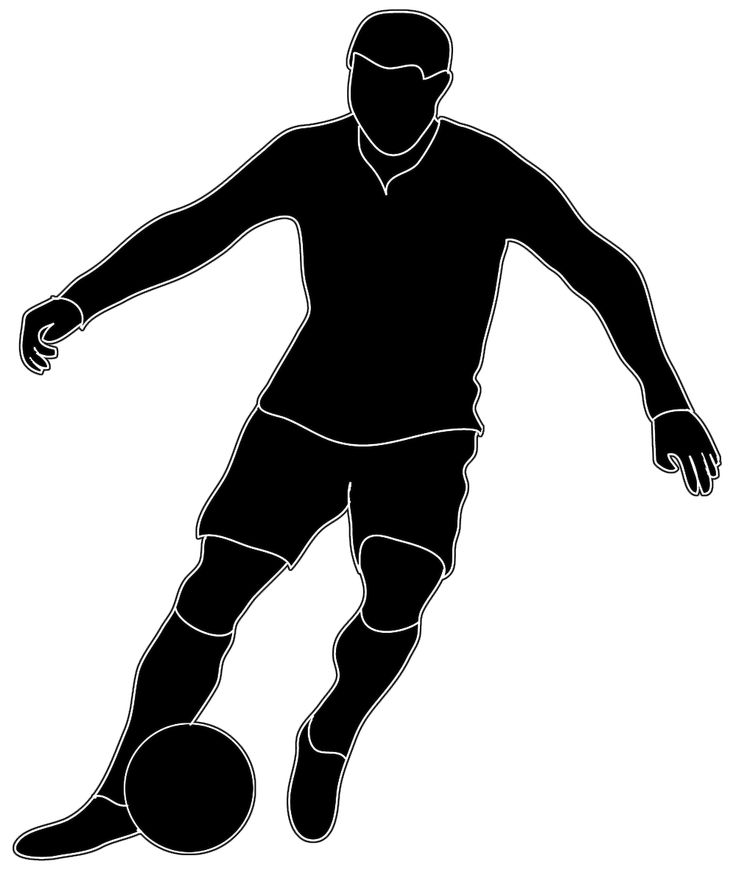 Football Player Clipart Black And White Free