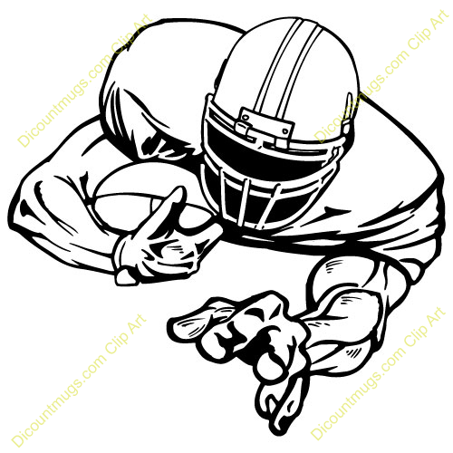 Football Player Clipart Black White Free Clipart